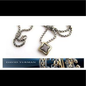 Yurman 18k 750 925 quatrefoil pendant necklace